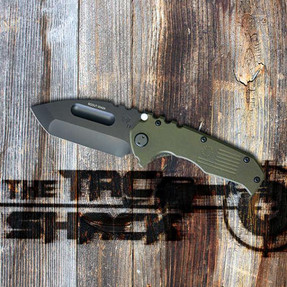 knife on wood table for webinar