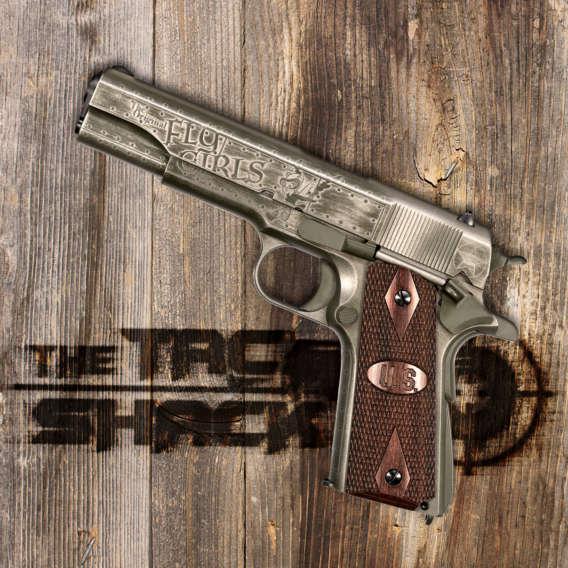 1911 semi auromatic pistol on wood for tac shack gun webinars