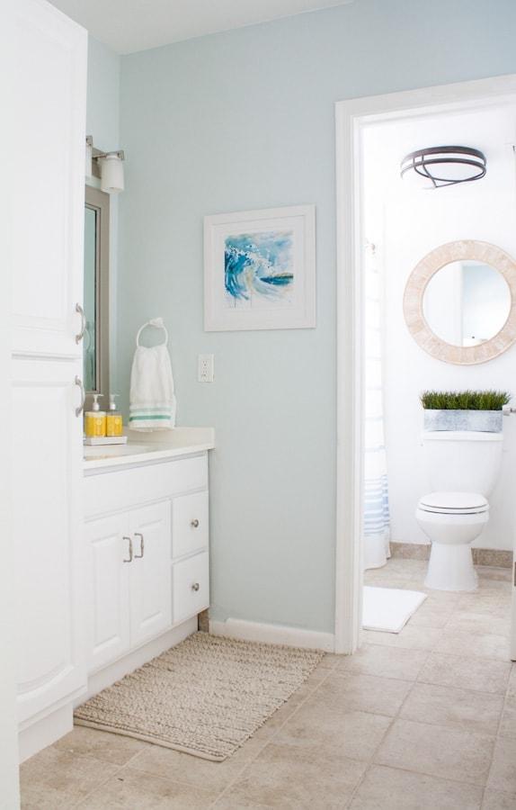Beachy Decor Master Bathroom