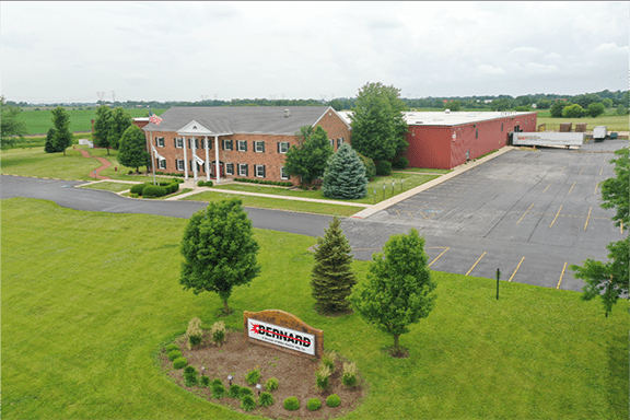 Aerial view of Bernard office and manufacturing facility