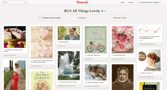 Example Pinterest Board