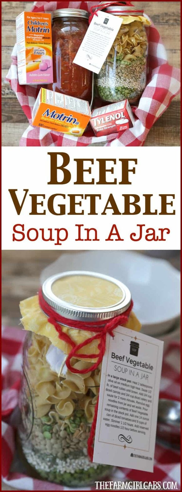 Win Over Winter With This Simple DIY Beef Vegetable Soup In A Jar Gift Idea. #WinOverWinter @Target