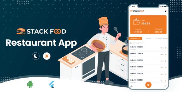 StackFood Multi Restaurant Food Ordering Restaurant App V1.0