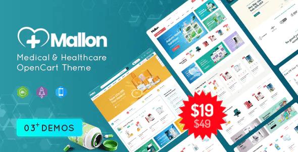 MallOn Super Fast Medical Healthcare Stores OpenCart Theme