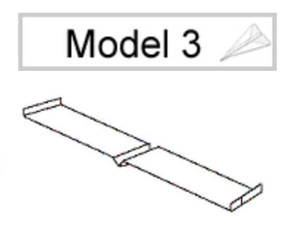 Papieren vliegtuig vouwen: model 3