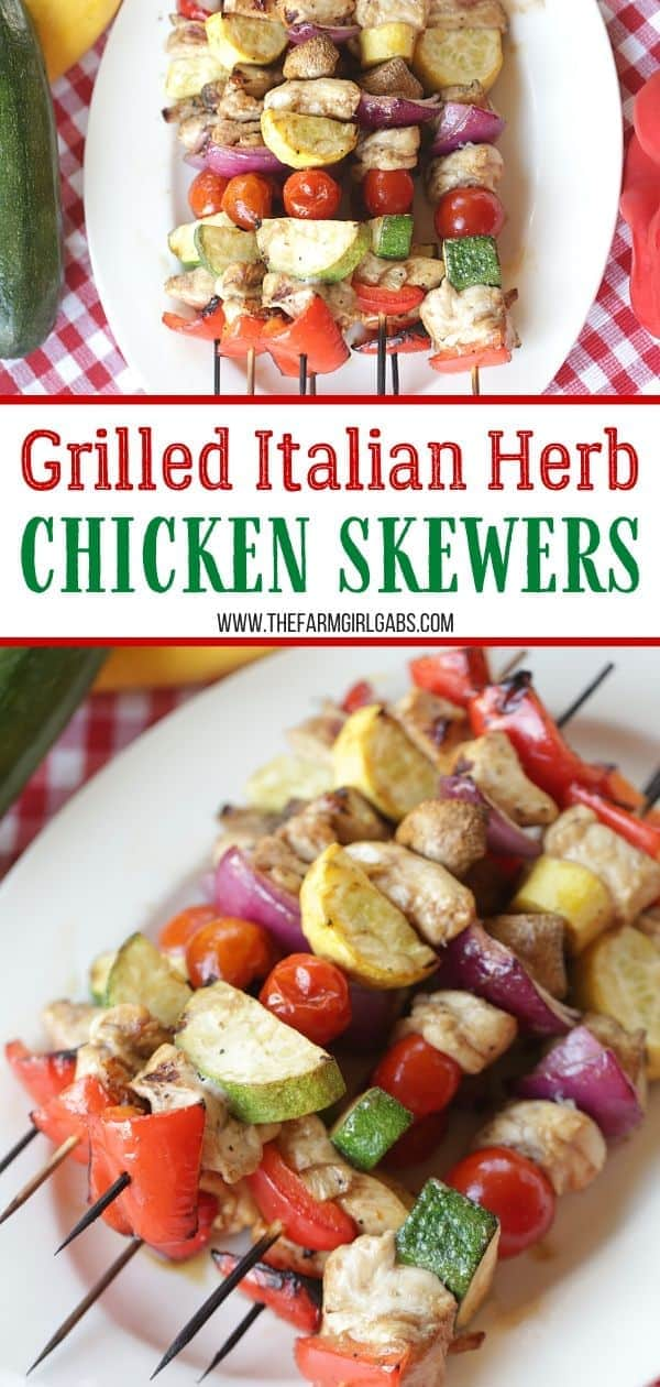 It's time to fire up the grill. This Grilled Italian Herb Chicken Skewers recipe is easy to make and sure to please. Get your grill on and try this tasty chicken recipe.
