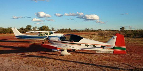 AAA PPL flight training aircraft away in Australian outback