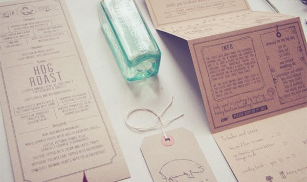 rustic kraft wedding invitations printing