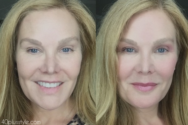 Flattering makeup over 40 before and after looks   40plusstyle.com