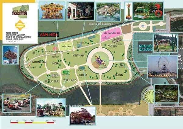 Bản đồ chỉ đường đến các khu vui chơi