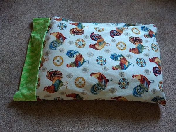 hot dog pillowcase - full view