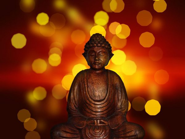 Enlightened buddha ready for reiki class