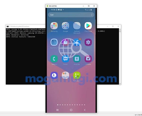 Menampilkan Layar HP Android