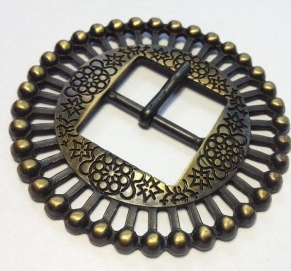 Пряжки для женских ремней 30 мм старая латунь (сатин)