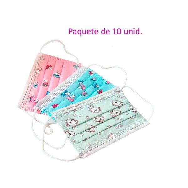 Mascarilla protec Infantil Varios modelos- distribuciones ti
