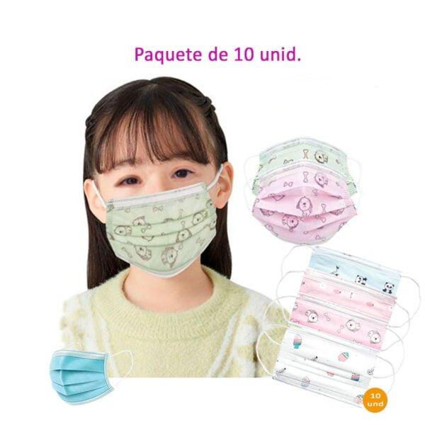 Mascarilla de protección Infantil Quirúrgica- distribuciones ti