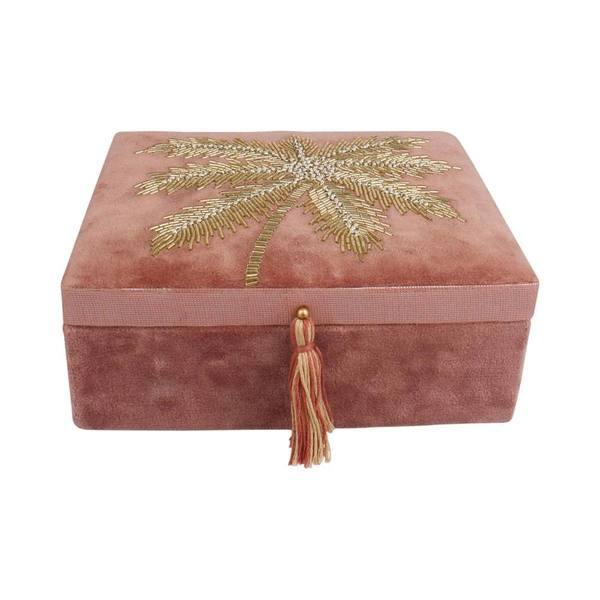 À la Velvet Box With Palmtrees in Beads