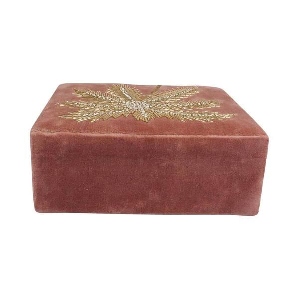 À la Velvet Box With Palmtrees in Beads achterkant