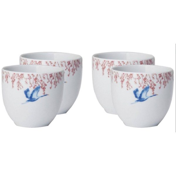 Catchii koffiekop Cherry Blossom & Lucky cranes set 4