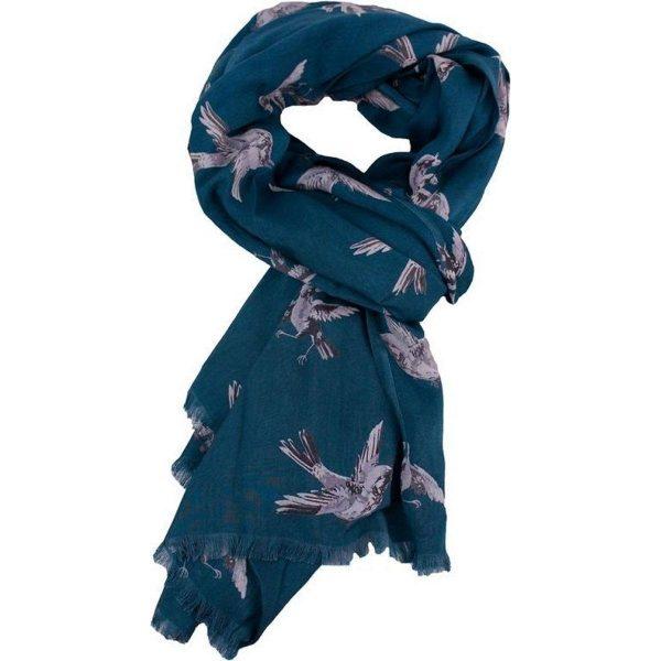 Imbarro Sjaal Swinging bird blauw