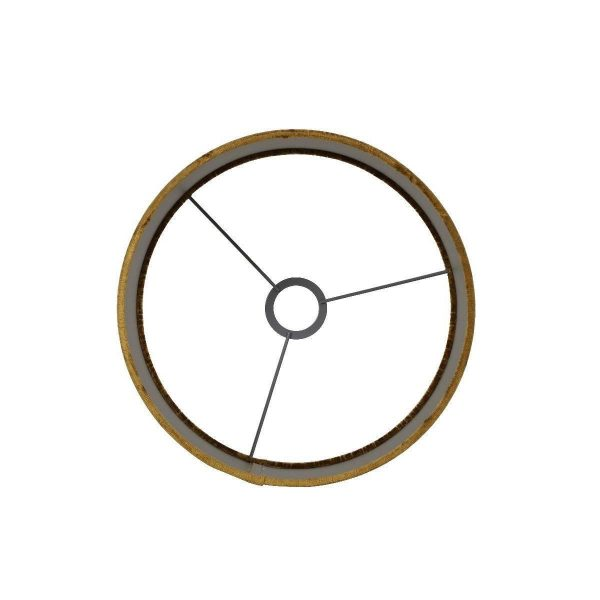 Gemstone Cilinder Lampenkap Goud bovenkant