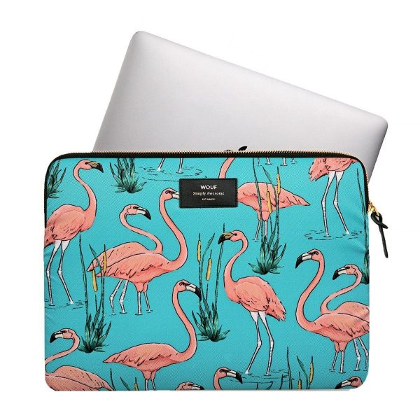 wouf pink flamingos laptophoes 2