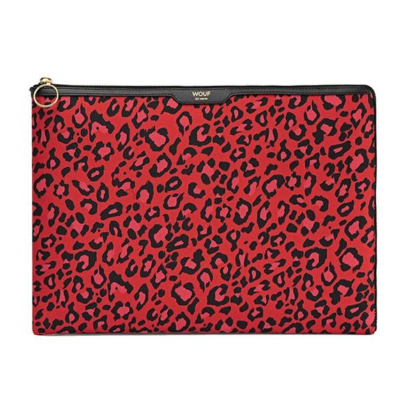 """WOUF Red Leopard Laptophoes 13"""""""