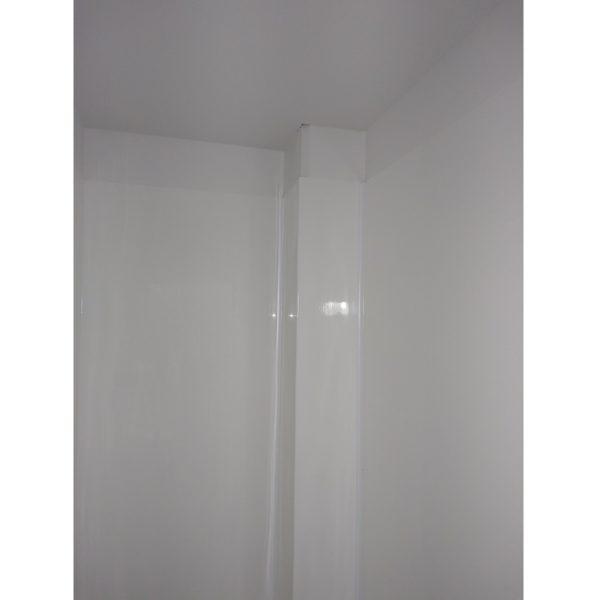 3 folder corner of 5 Fold Shower liner