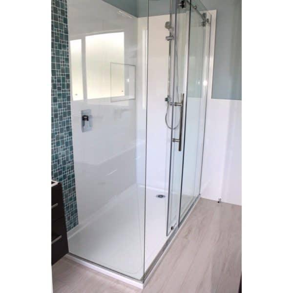 1800 x 900 shower 2 walled Corner Henry Brooks rh sq