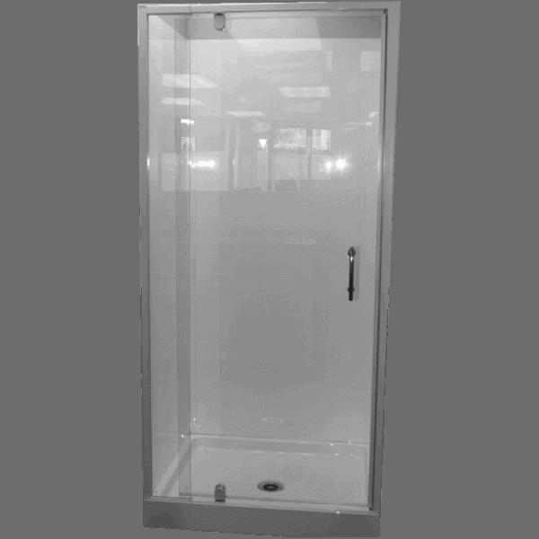 alcove shower flat wall chrome door Henry Brooks