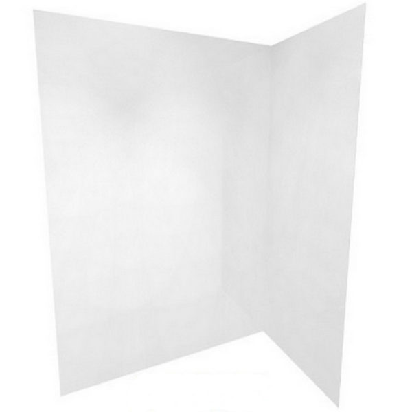Flat Shower liner folded - up to 2400 high