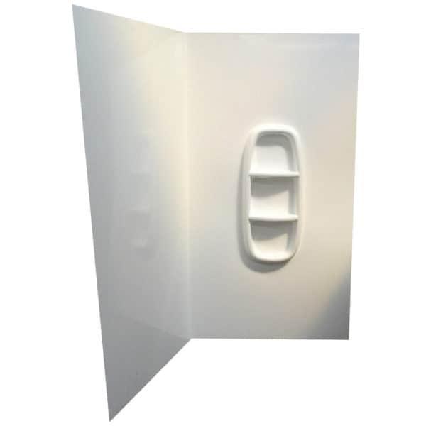 Shower Liner corner Moulded up to 2000 high