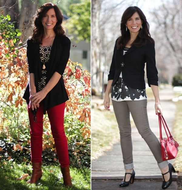 Chic up your jeans with a jacket or cardigan!   40plusstyle.com