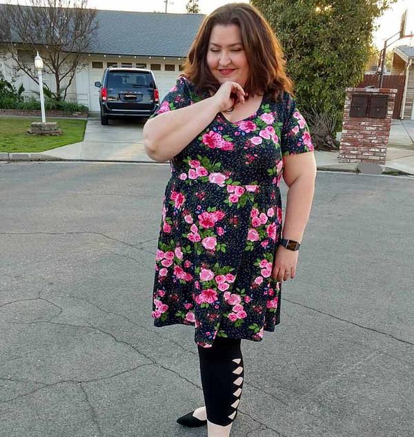 floral dress ensembles for women over 40 | 40plusstyle.com