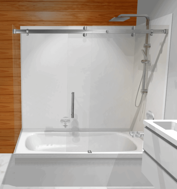 Urban Bath sliding door over bath