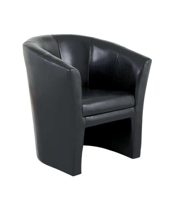 Location fauteuil club noir