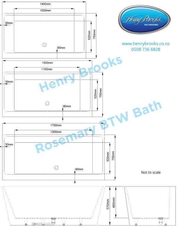 Rosemary BTW dimensions Henry Brooks