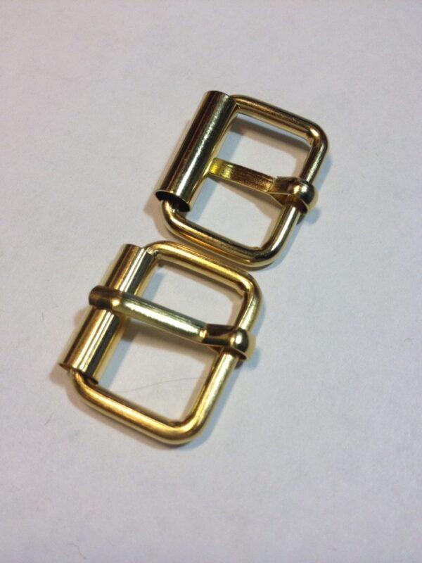 Пряжки с роликом 20 мм Золото