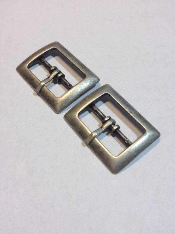 Пряжка 20 мм старое серебро