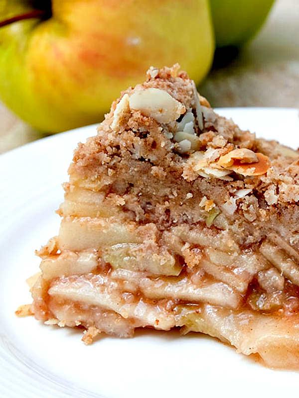 crust free apple pie, gluten free