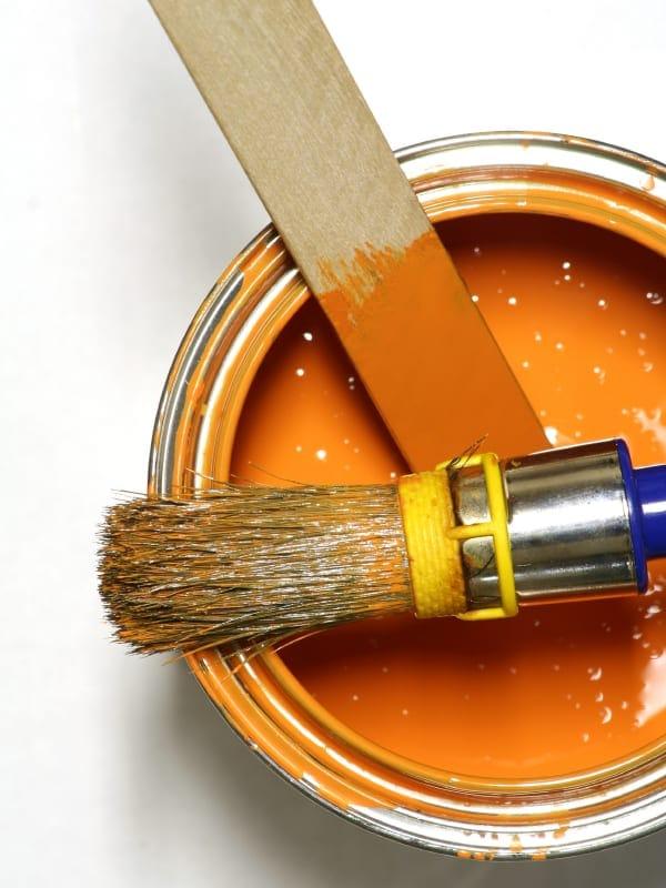 Kleur Oranje maken met verf