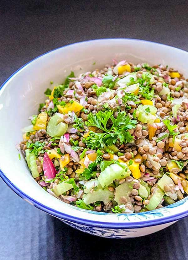 lentil summer salad