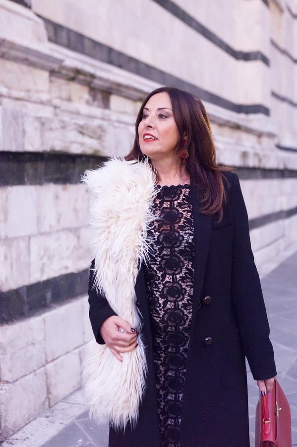 black lace outfit | 40plusstyle.com
