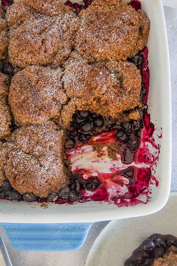 grain free blueberry cobbler