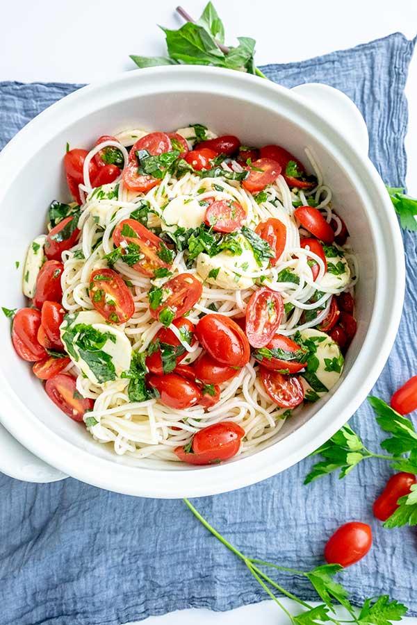 pasta salad, gluten free, Italian