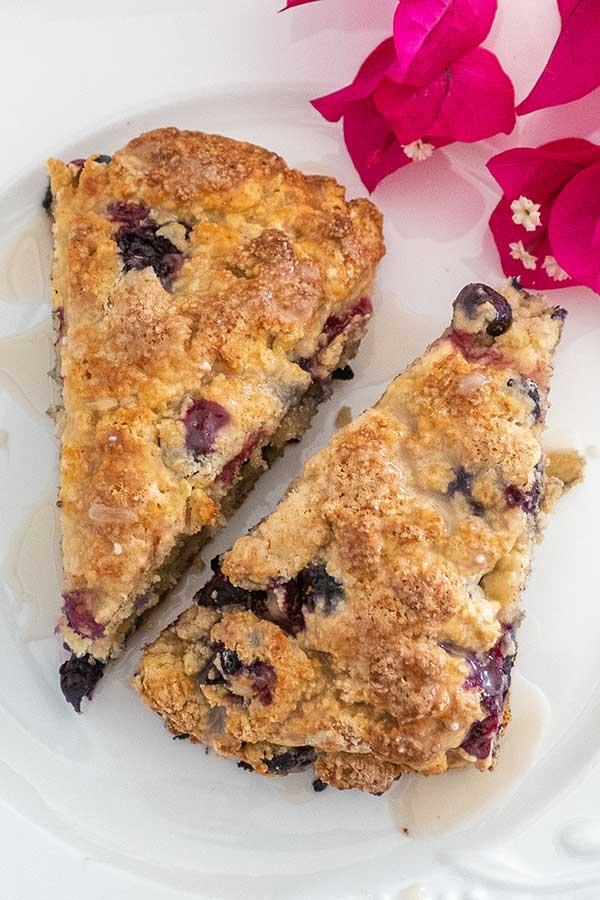 blueberry scones, gluten free