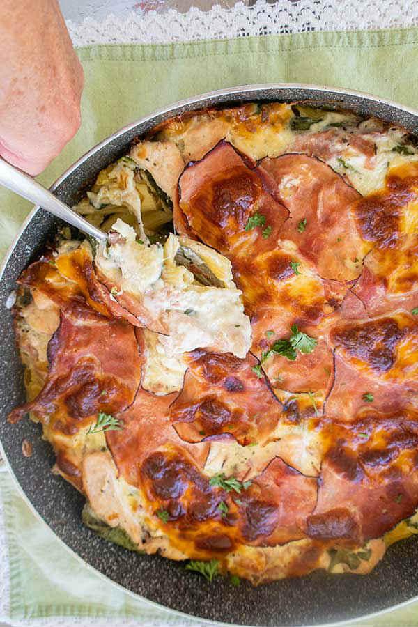 chicken cordon bleu pasta, gluten free