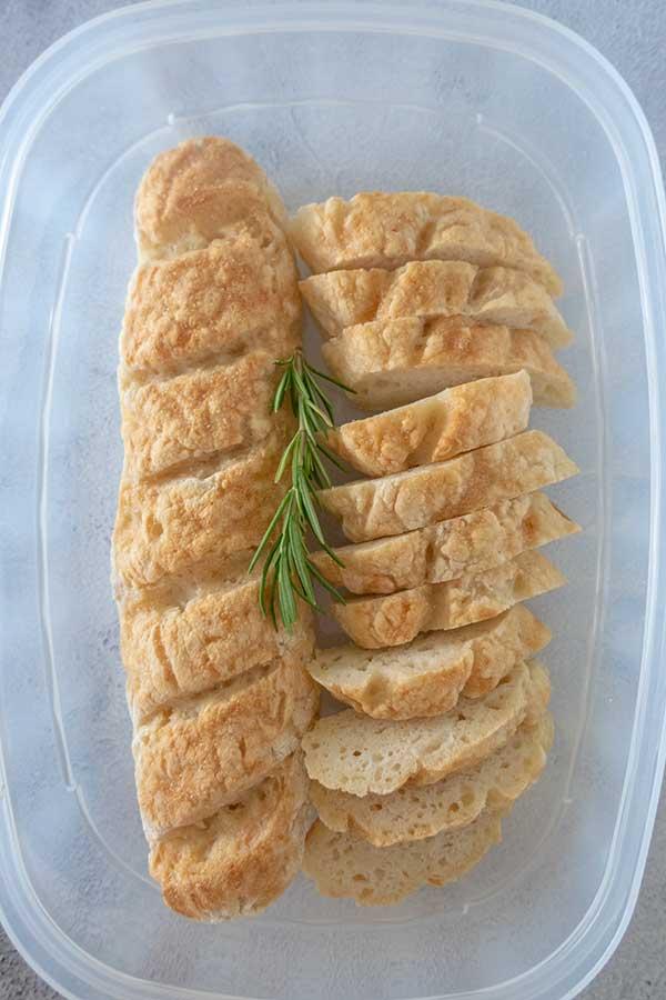 storing bread
