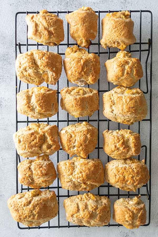 baked buffalo chicken biscuits, gluten-free