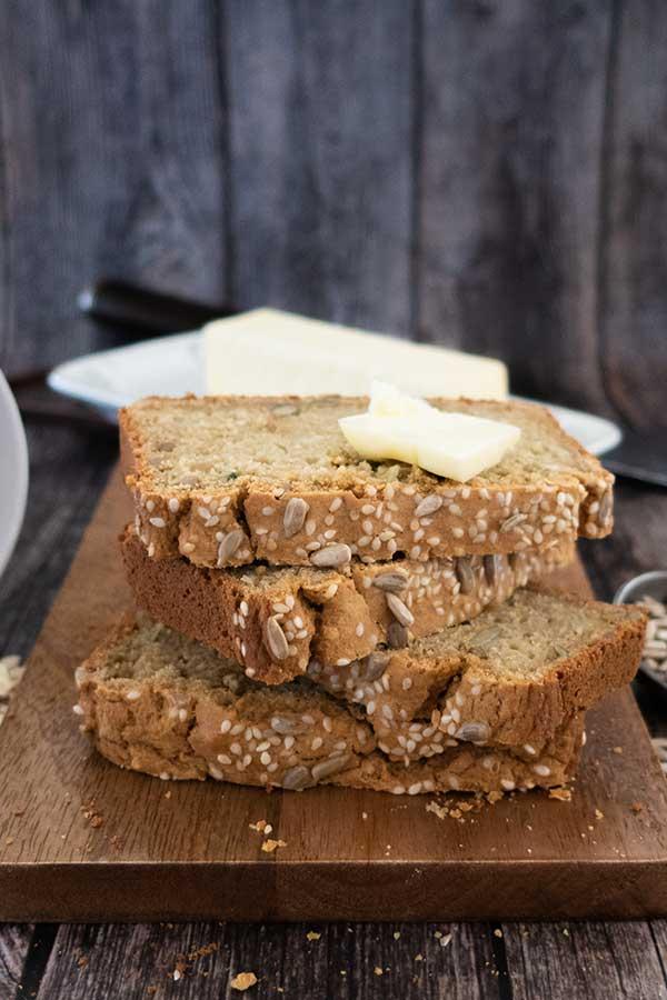 oat flour bread, gluten-free